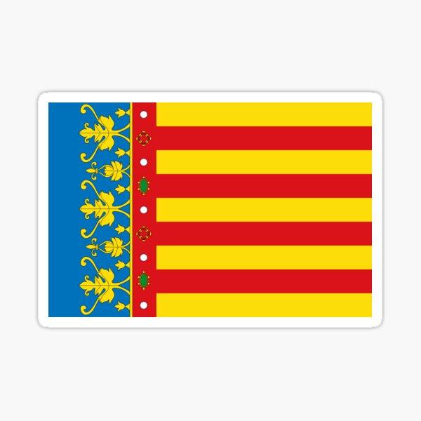 Bandera de valencia, españa Pegatina