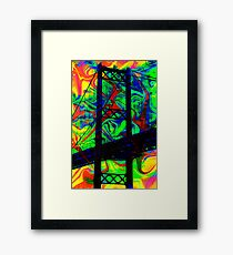 Psychedelic Bridge Framed Print
