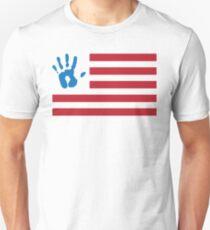 Ink Handprint American Flag T-Shirt
