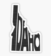Pegatina Arte de la palabra del estado de Idaho