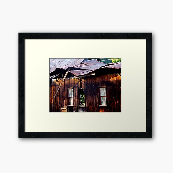 Ramshackle Rolling Roof Framed Art Print