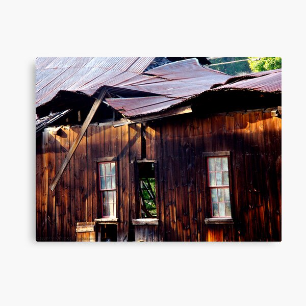 Ramshackle Rolling Roof Canvas Print