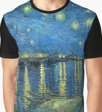 Starry Night Over the Rhone by Van Gogh Graphic T-Shirt