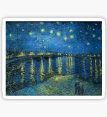Starry Night Over the Rhone by Van Gogh Sticker