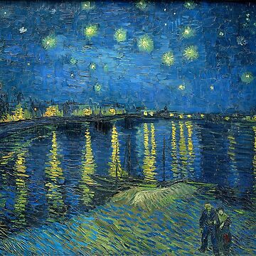 Starry Night Over the Rhone by Van Gogh by vintageemporium