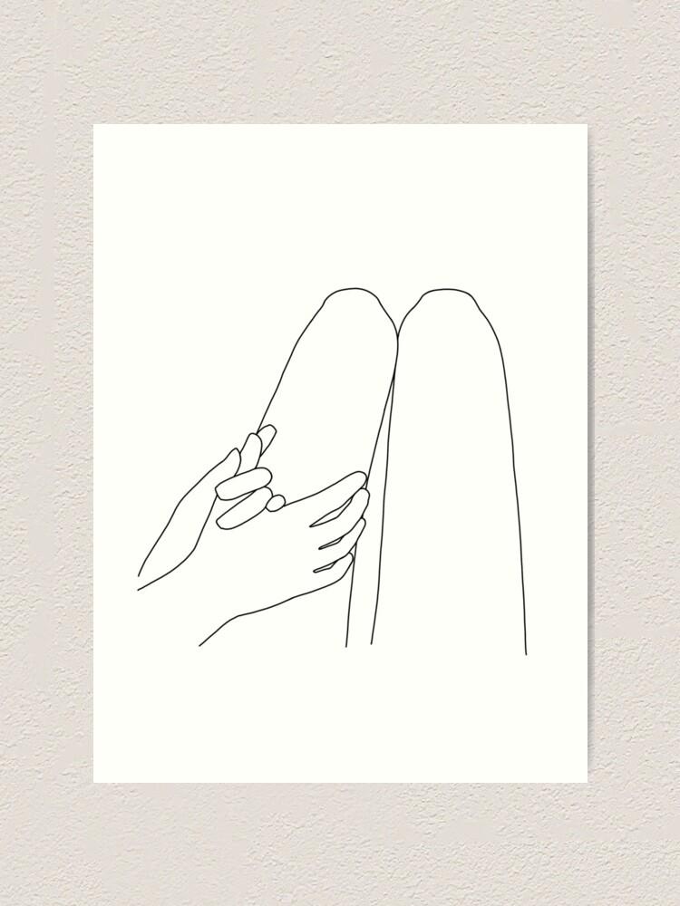Alternate view of holding hands Art Print