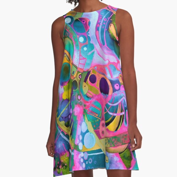 Starlight is Free (If You Live in Outer Space) - Watercolor A-Line Dress
