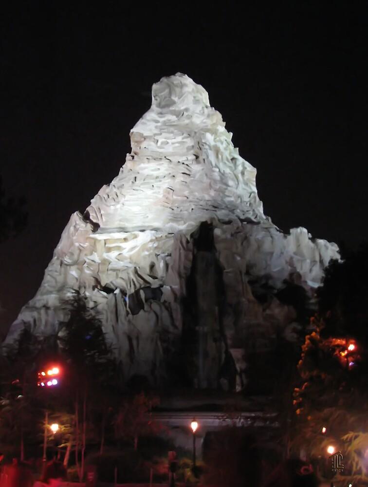 Matterhorn Mountain at Night by TLCGraphics