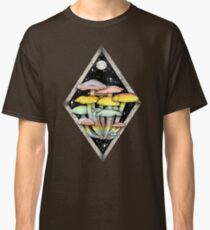 Rainbow Mushrooms || Psychedelic Illustration by Chrysta Kay Classic T-Shirt
