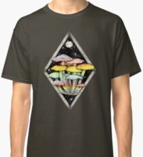 Rainbow Mushrooms || Psychedelic Illustration by Chrysta Kay Classic T-Shirt