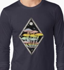 Rainbow Mushrooms || Psychedelic Illustration by Chrysta Kay T-Shirt