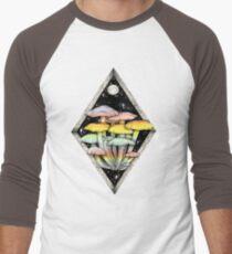 Rainbow Mushrooms || Psychedelic Illustration by Chrysta Kay Men's Baseball ¾ T-Shirt