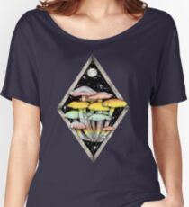 Rainbow Mushrooms || Psychedelic Illustration by Chrysta Kay Women's Relaxed Fit T-Shirt