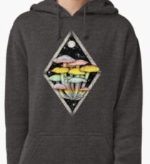 Rainbow Mushrooms || Psychedelic Illustration by Chrysta Kay Pullover Hoodie