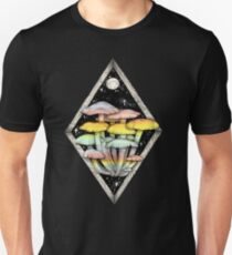 Rainbow Mushrooms || Psychedelic Illustration by Chrysta Kay Unisex T-Shirt
