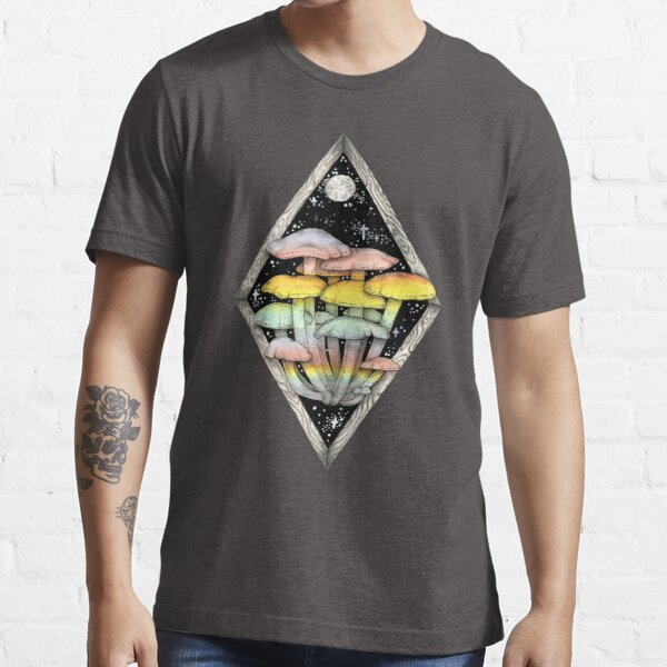Rainbow Mushrooms || Psychedelic Illustration by Chrysta Kay Essential T-Shirt