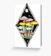 Rainbow Mushrooms || Psychedelic Illustration by Chrysta Kay Greeting Card
