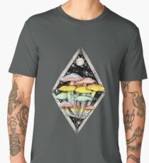 Rainbow Mushrooms || Psychedelic Illustration by Chrysta Kay Men's Premium T-Shirt
