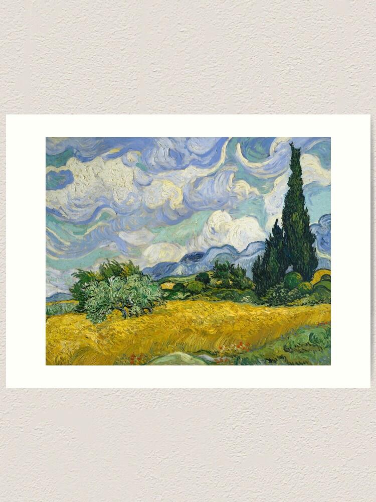 NEW Dutch Fine Art Print POSTER Vincent van Gogh Two Cypresses 1889