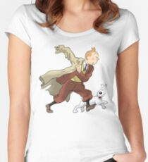 tintin and snowy Women's Fitted Scoop T-Shirt