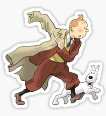 tintin and snowy Sticker
