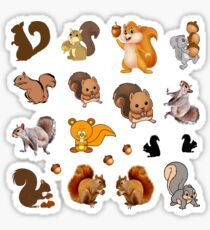 Squirrel Sticker Set Sticker