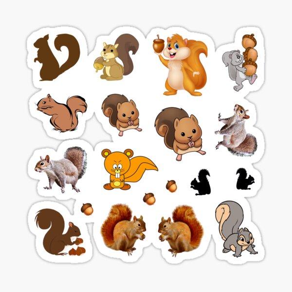 Squirrel Sticker Set Sticker