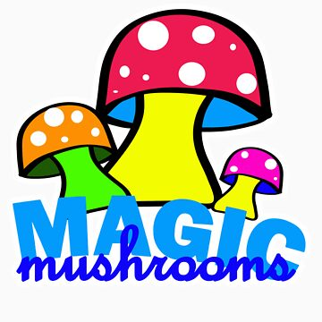 Magic mushrooms t-shirts by valizi