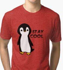 Stay Cool Penguin Tri-blend T-Shirt
