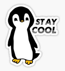 Stay Cool Penguin Sticker