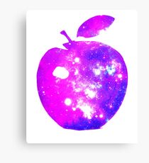 BIG COSMIC APPLE Bright Space Pattern Design Canvas Print