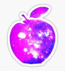 BIG COSMIC APPLE Bright Space Pattern Design Sticker