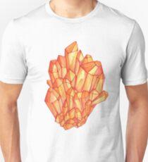 Orange watercolor crystal cluster T-Shirt
