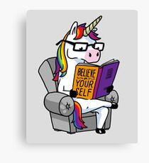 Unicorn Believe in Yourself Magical Fabulous Canvas Print