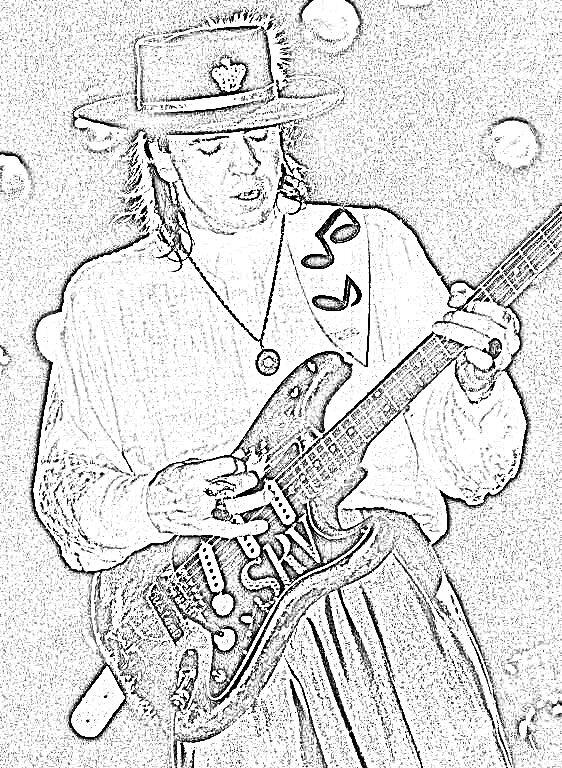 guitarist srv by js55333