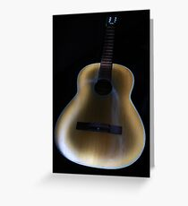Painted Guitar Greeting Card