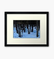 The approaching Darkness Framed Print