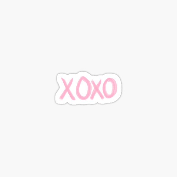 xoxo pink  Sticker