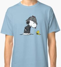 Snoopy Holmes and Woodstock Watson Classic T-Shirt