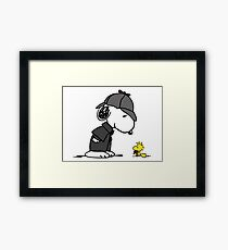 Snoopy Holmes and Woodstock Watson Framed Print