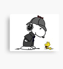 Snoopy Holmes and Woodstock Watson Canvas Print