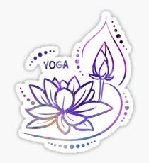 Yoga, Lotus Flower Sticker