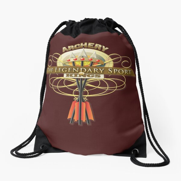 Archery the sport of Kings Drawstring Bag