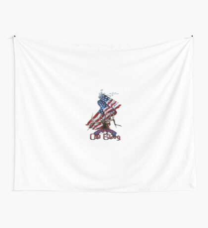 Elk Old Glory Wall Tapestry