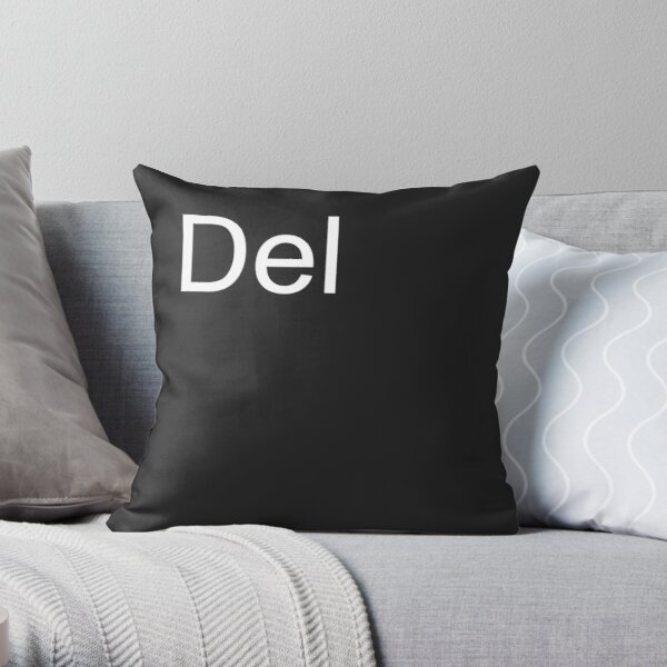 Del Pillow in Black Throw Pillow