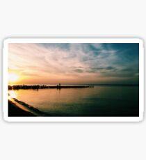 Lake Erie Sunset Sticker