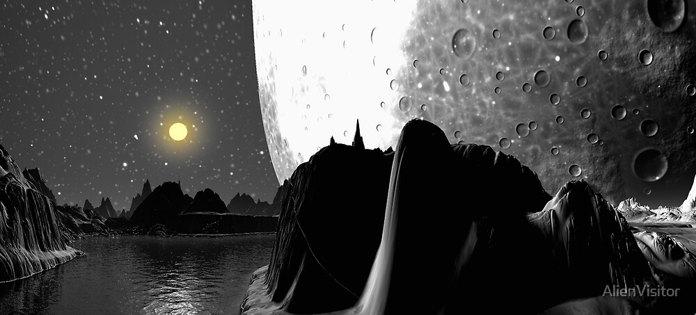 Giant Moon. by AlienVisitor