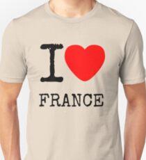I LOVE FRANCE Unisex T-Shirt