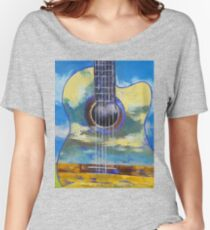 Guitar and Clouds Women's Relaxed Fit T-Shirt