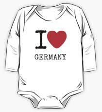 I LOVE GERMANY One Piece - Long Sleeve